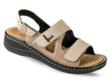 Sandalo con Cinturino Regolabile e Chiusura in Velcro – Zea beige – Podartis